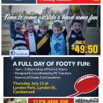 Dynamic Footy Skills will be running a footy clinic during the upcoming holidays