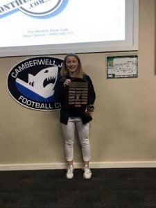 Sharks Best & Fairest winner in U16 Division!