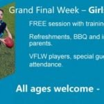 Register for the free Girls Footy Day at: https://www.trybooking.com/316076
